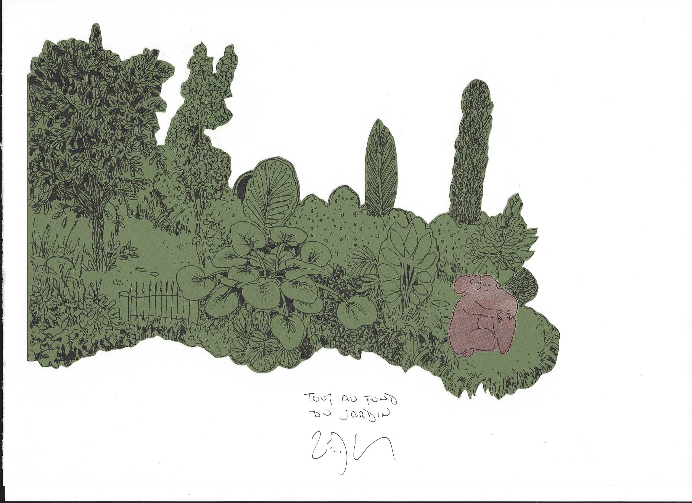 « At the very end of the garden – Tout au fond du jardin »