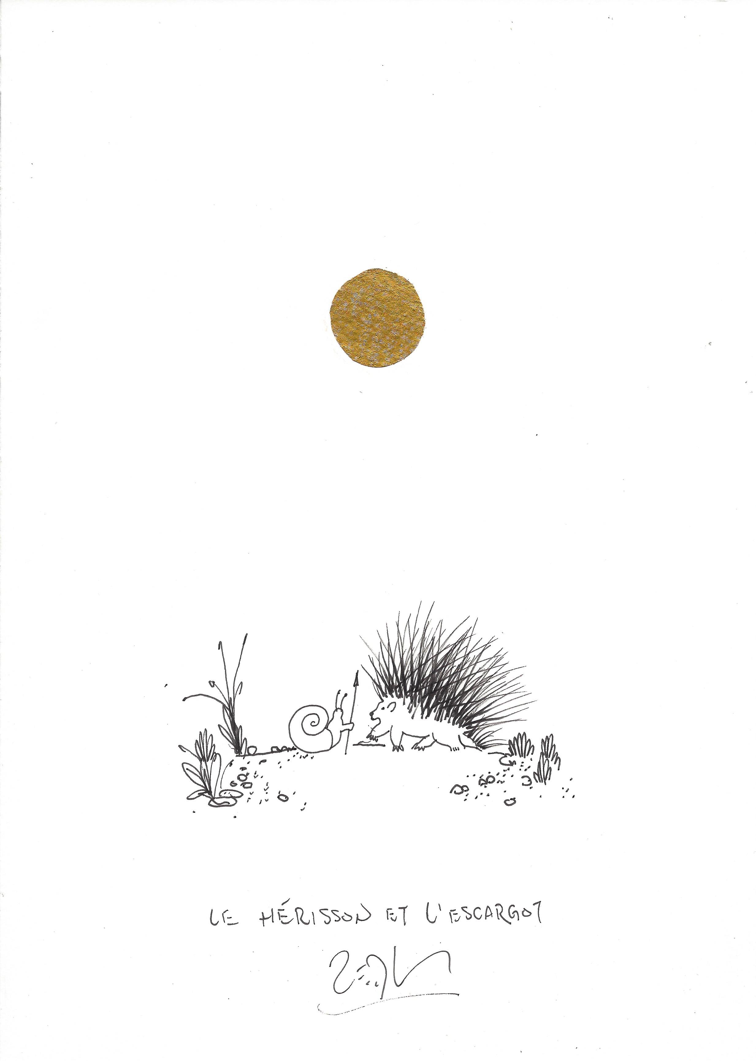 « The hedgehog and the snail – Le hérisson et l'escargot »