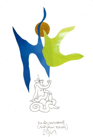 """""""Eve and the serpent (Kundalini rising) - Ève et le serpent (éveil de la Kundalini)"""
