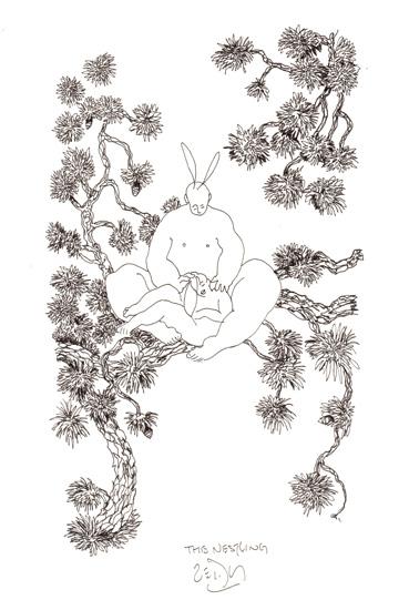 """""""The nestling - Niché dans l'arbre"""""""