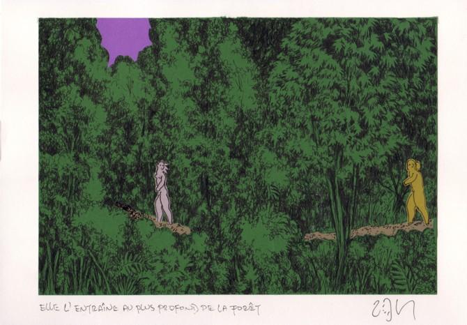 """""""She leads him deeper into the forest – Elle l'entraîne au plus profond de la forêt"""""""