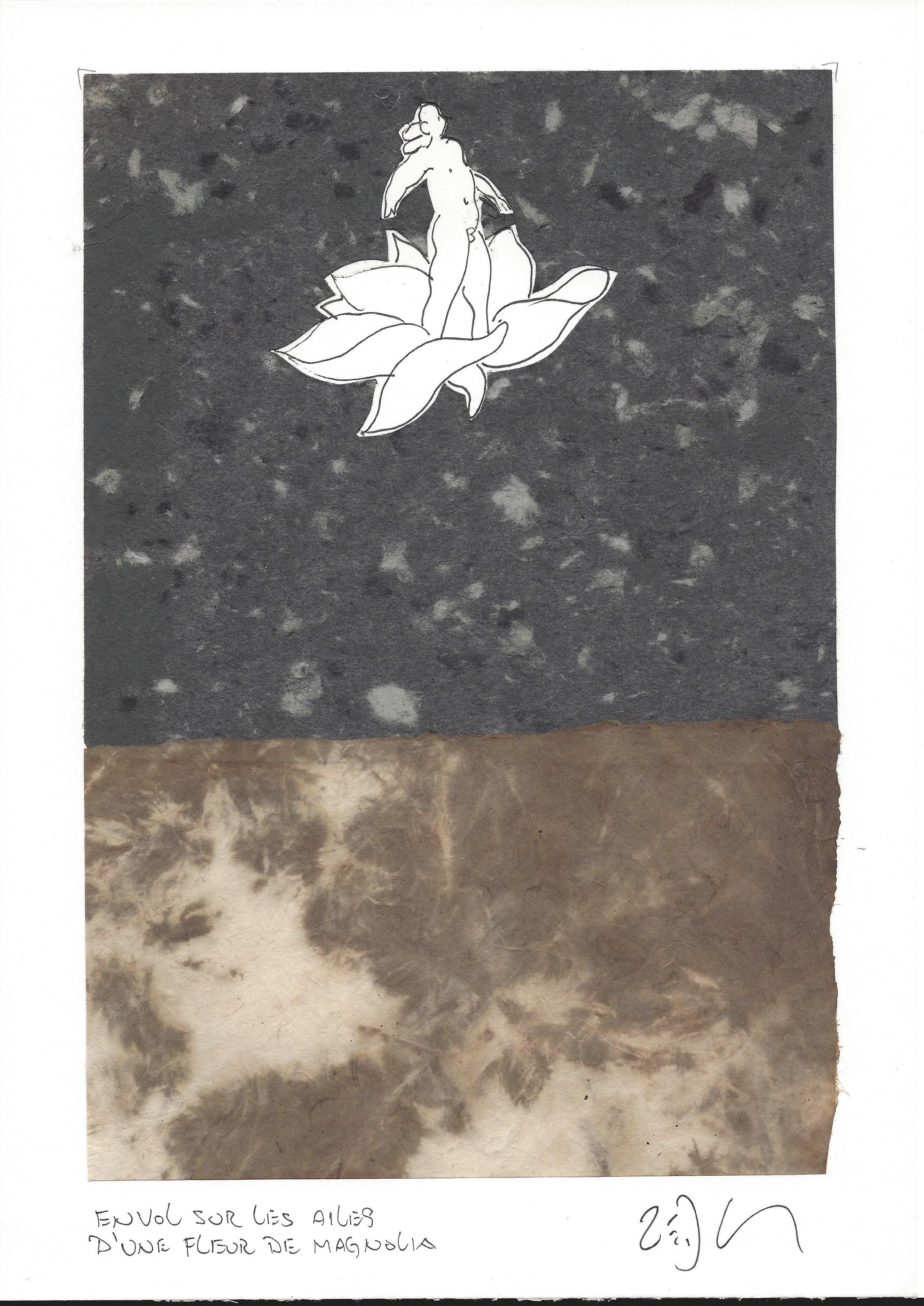 """""""Riding on the wings of magnolia blossoms – Envol sur les ailes d'une fleur de magnolia"""""""
