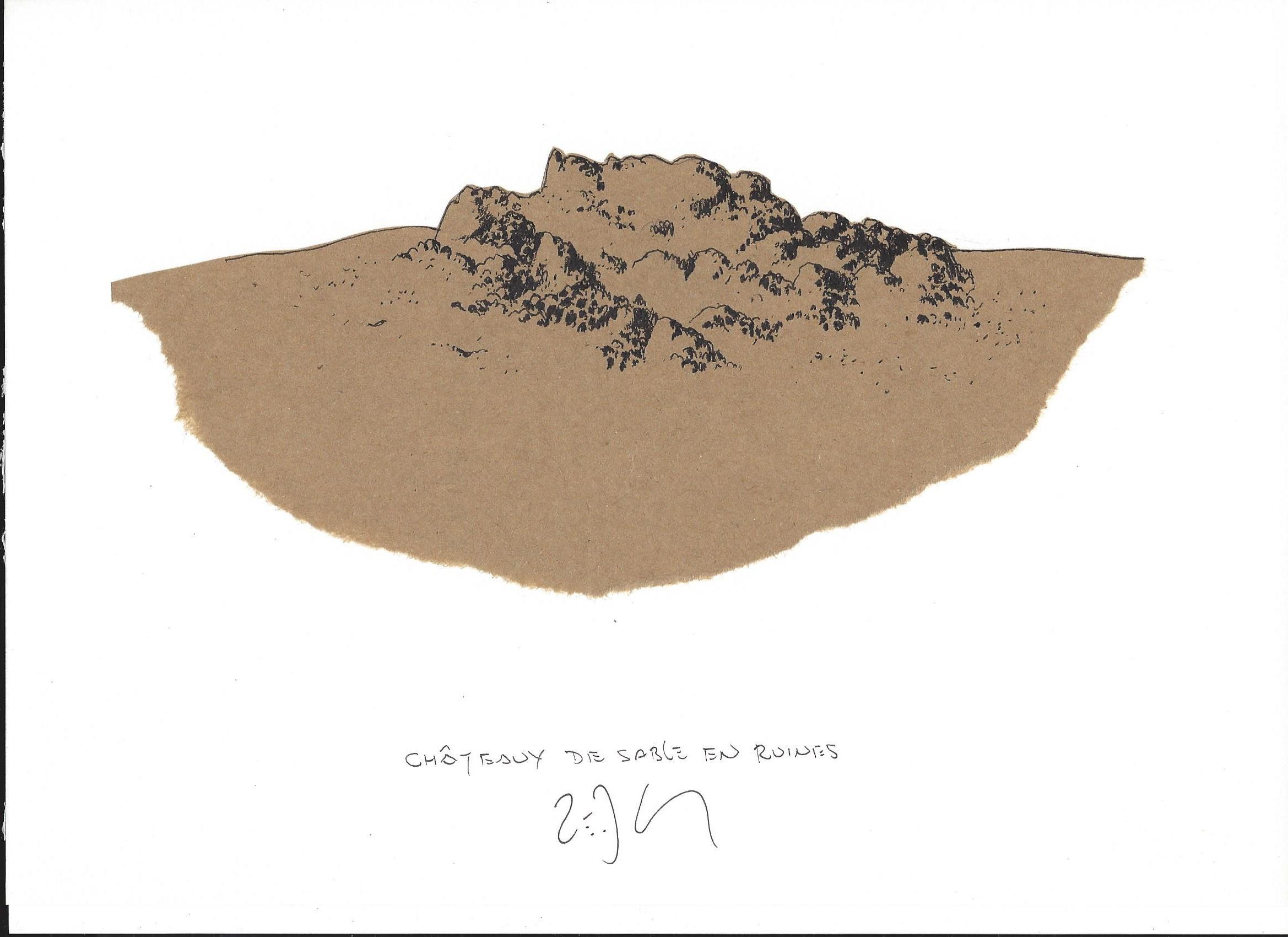 « Sand castle in ruins – Châteaux de sable en ruines »