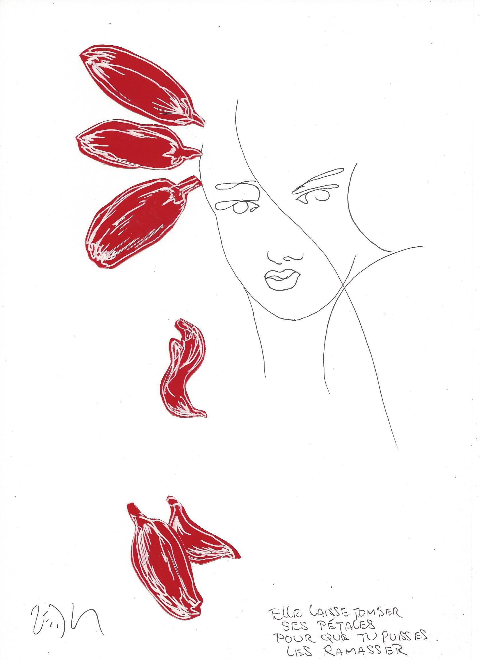 « She drops her petals just so he can pick them up – Elle laisse tomber ses pétales pour que tu puisses les ramasser »
