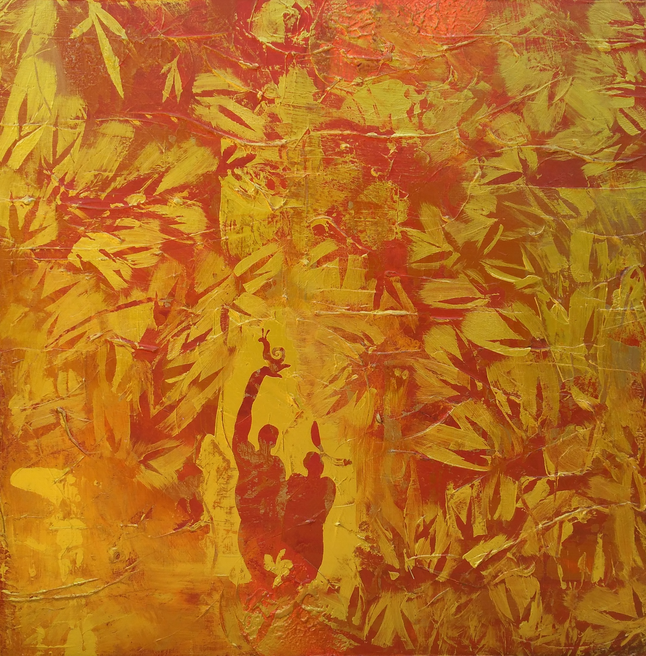 « The bamboo forest – La bambouseraie » - Acrylic – 36 x 36 (91 x 91 cm)