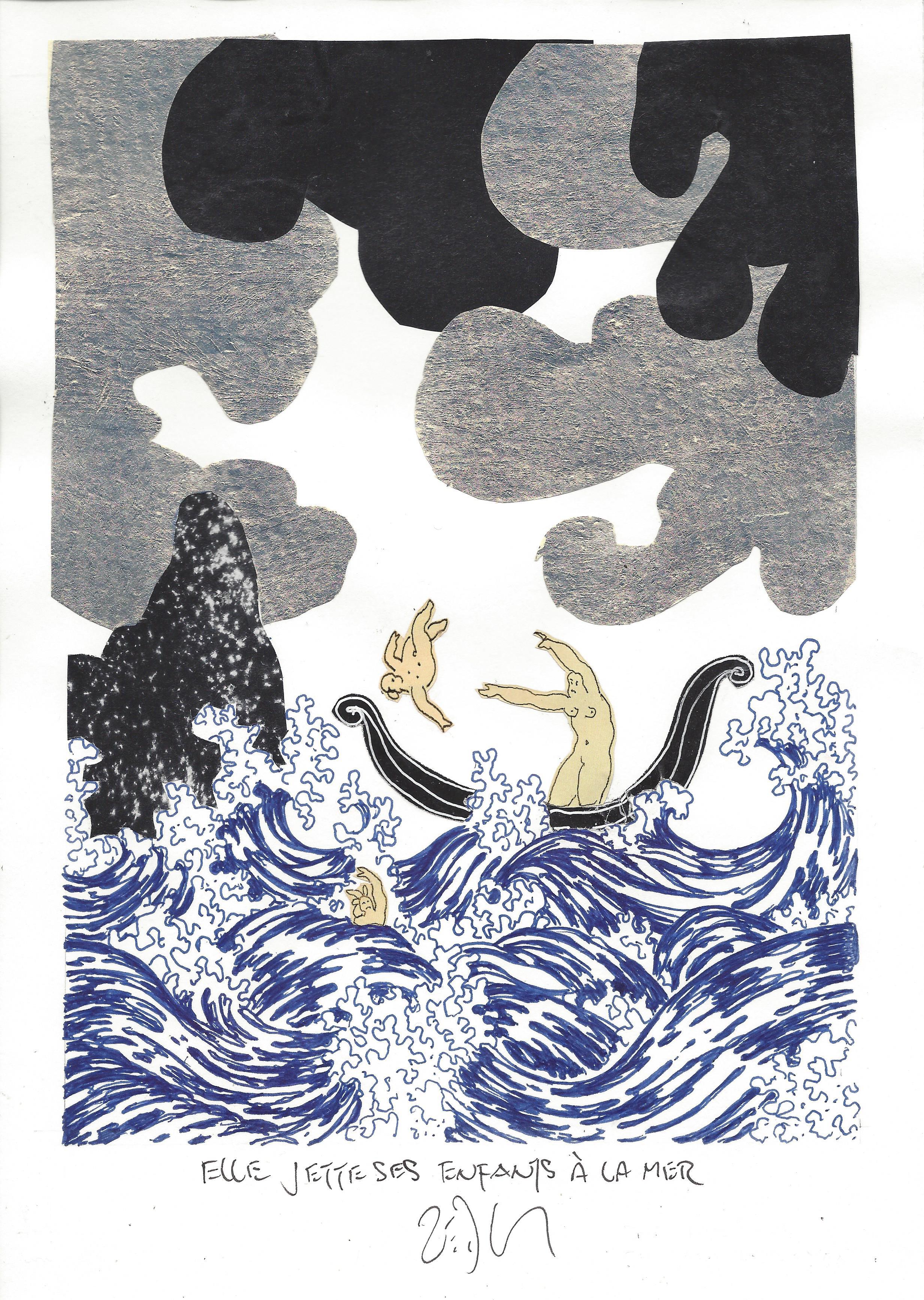 « She throws her children to the sea – Elle jette ses enfants à la mer »