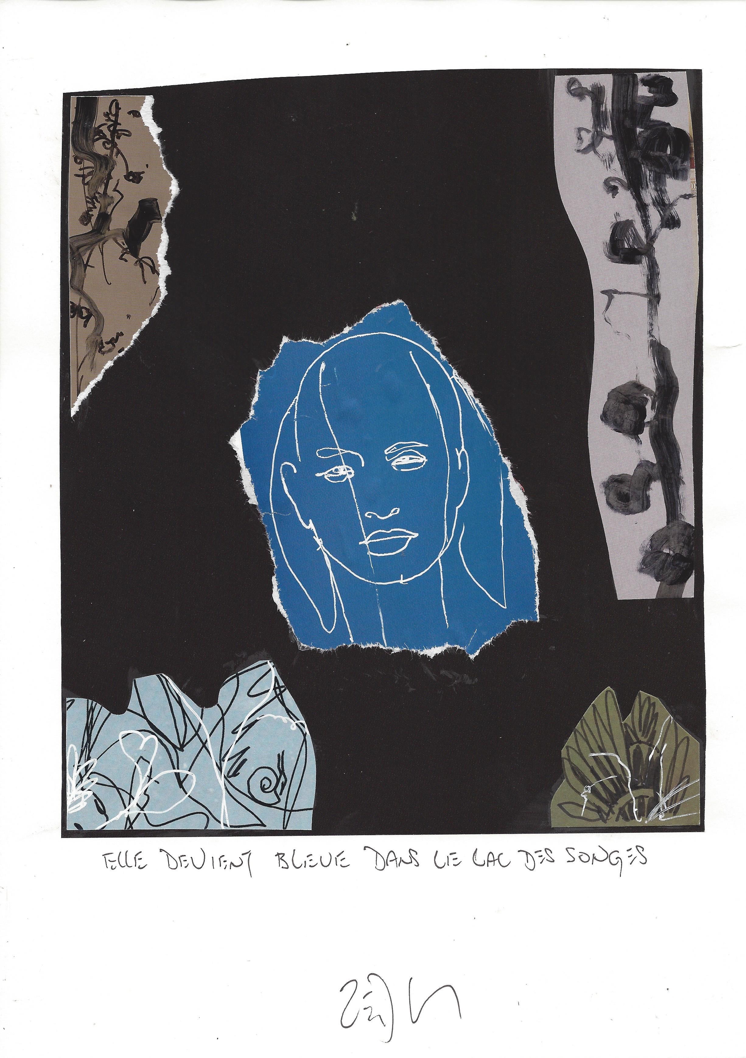 « Turning blue in the lake of dreams – Elle devient bleue dans le lac des songes »