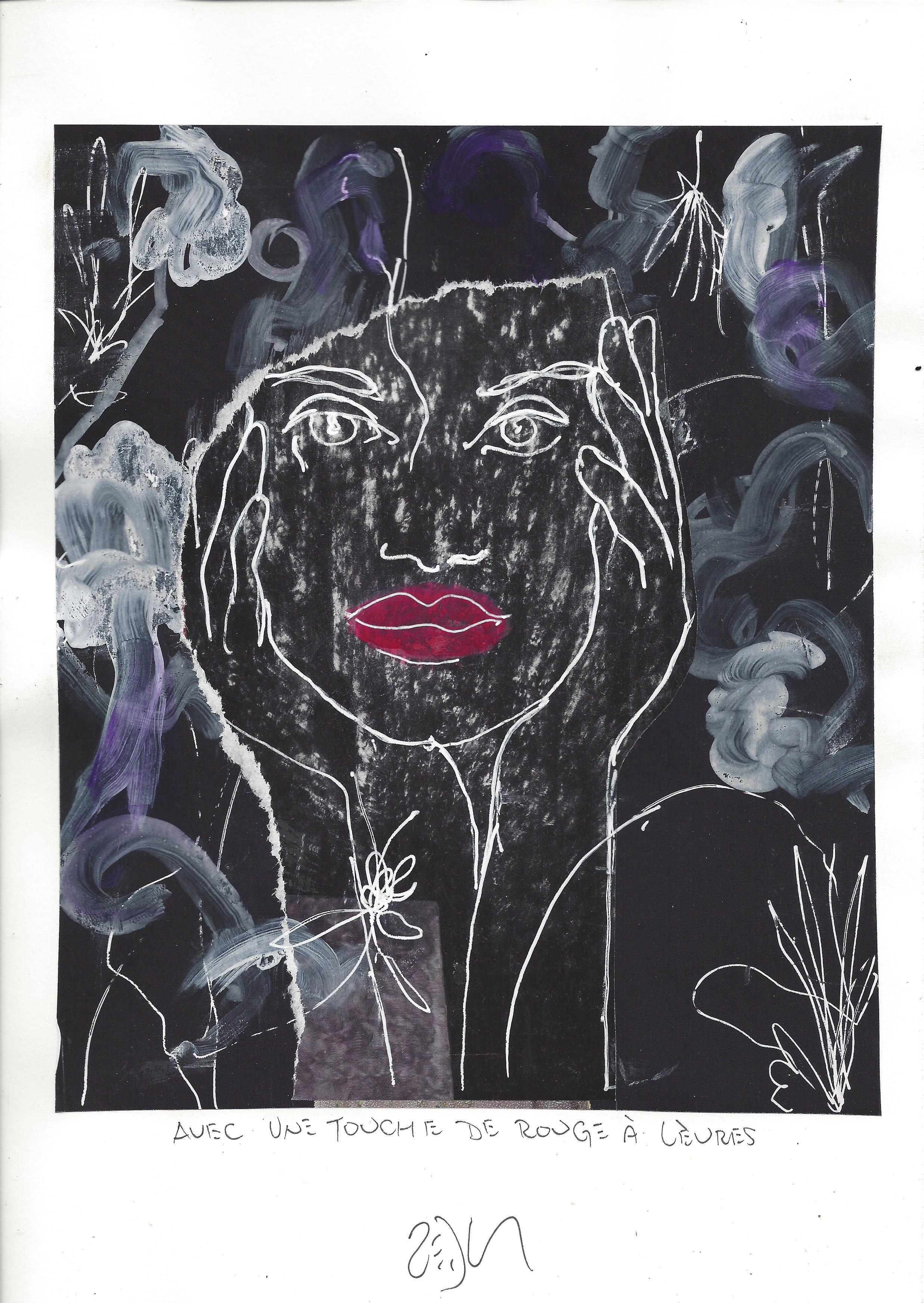 « With a touch of lipstick – Avec une touche de rouge à lèvres »