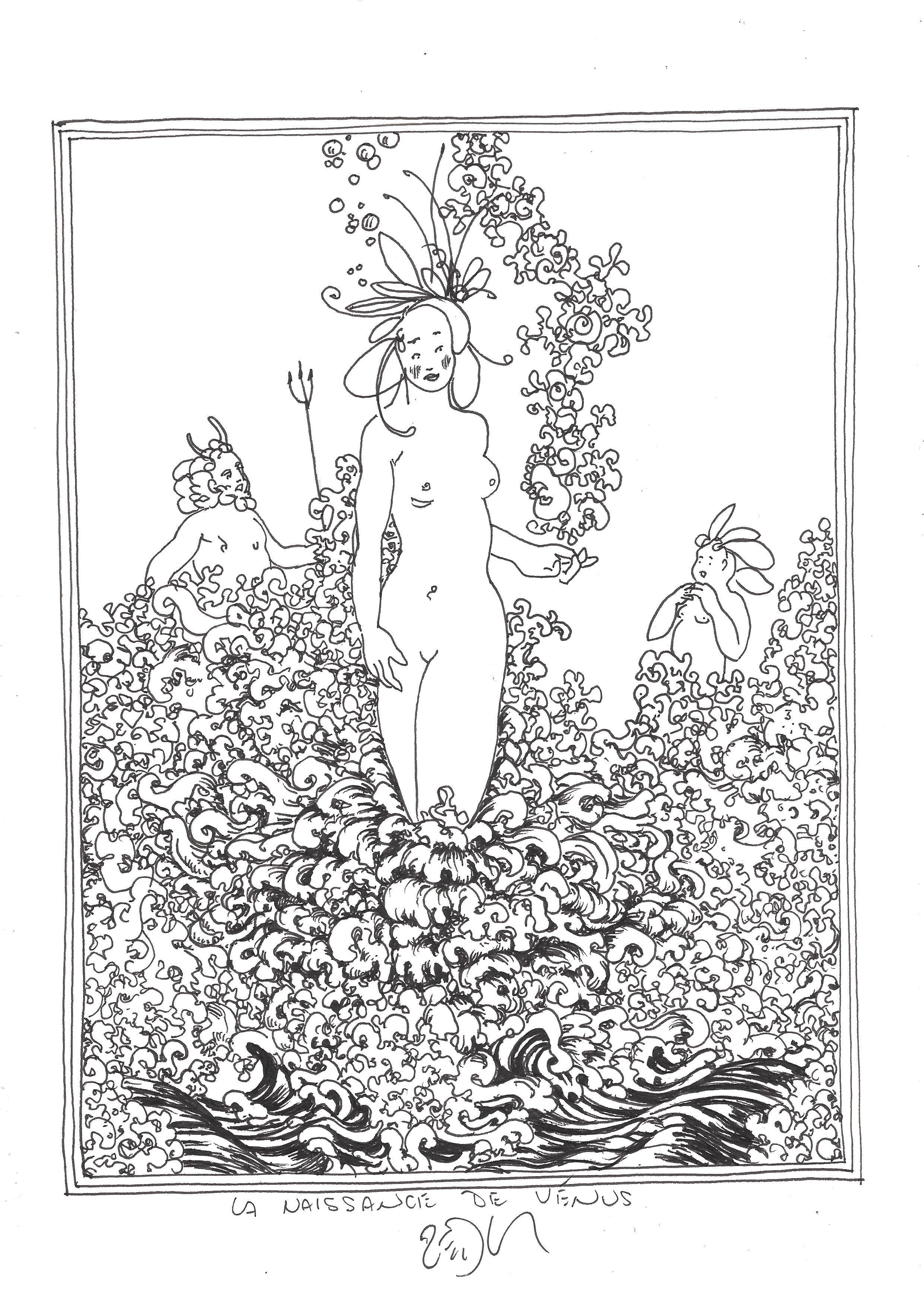 « The birth of Venus (triptych – center panel) – La naissance de Vénus (triptyque – panneau central) »