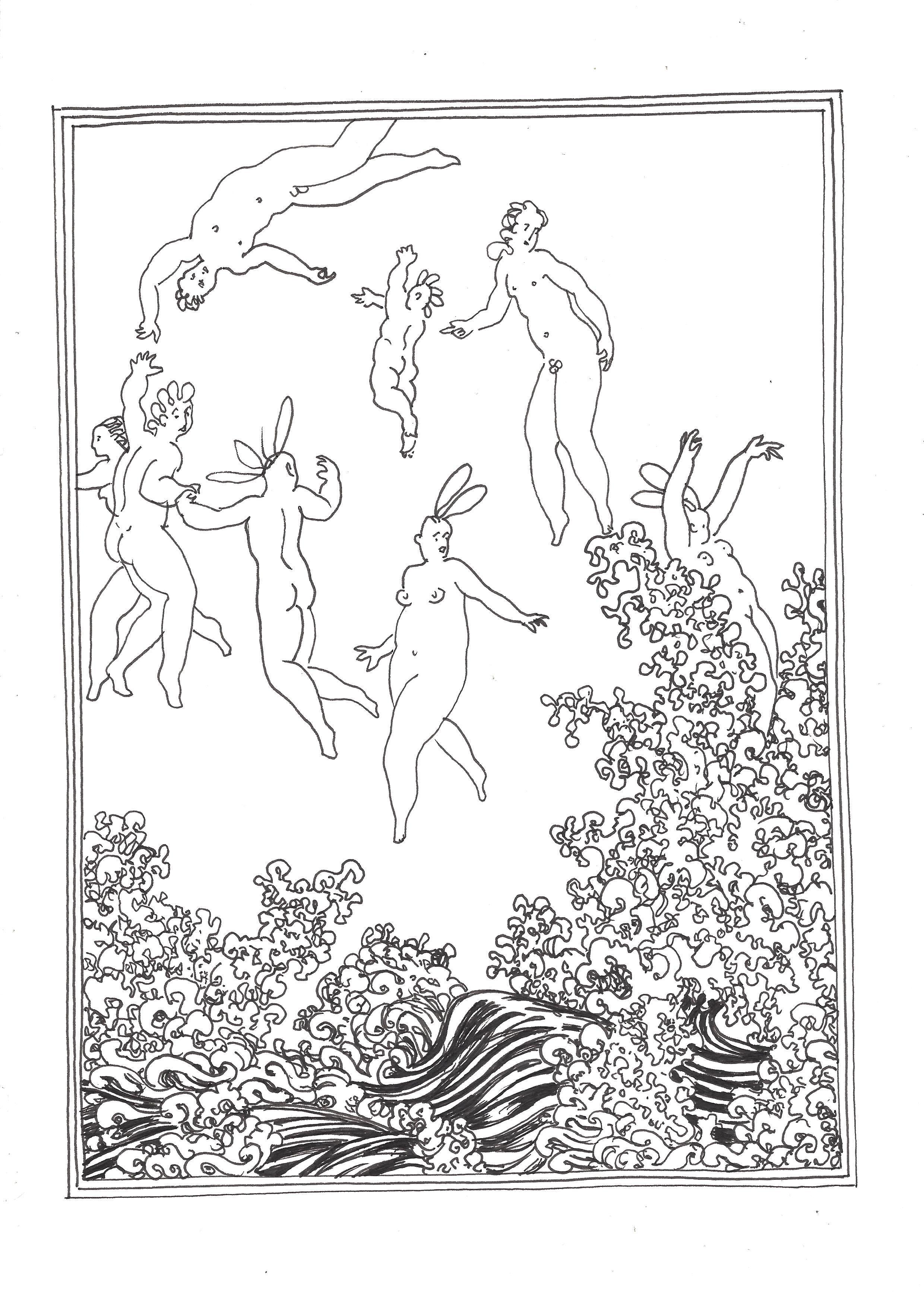 « The birth of Venus (triptych – left panel) – La naissance de Vénus (triptyque – panneau gauche) »