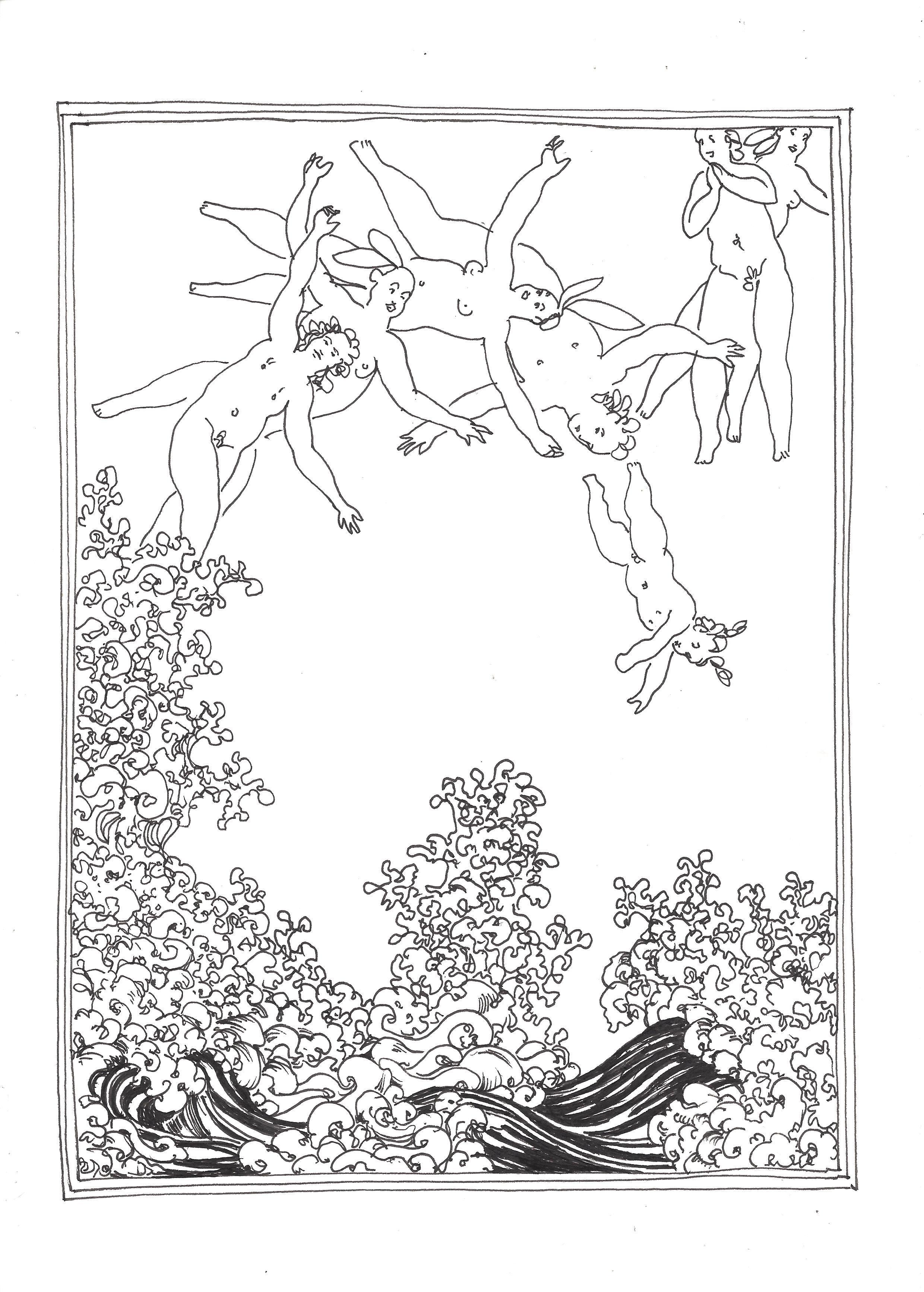 « The birth of Venus (triptych – right panel) – La naissance de Vénus (triptyque – panneau droit) »