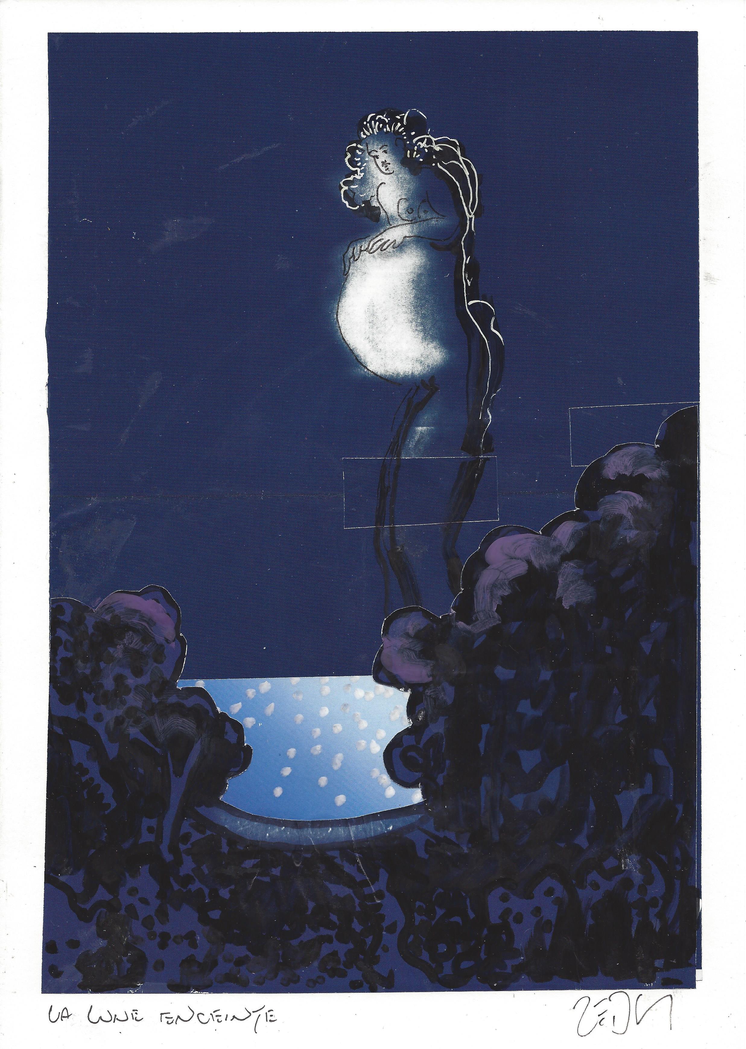 « The pregnant moon – La lune enceinte »