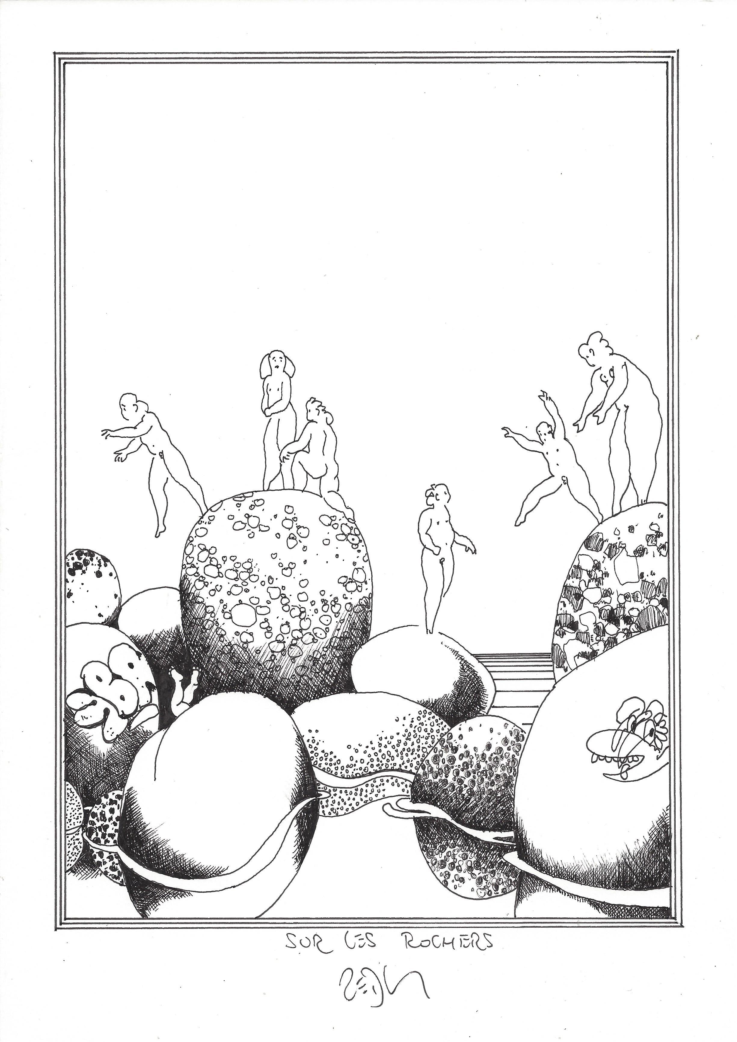 « Over the boulders – Sur les rochers »