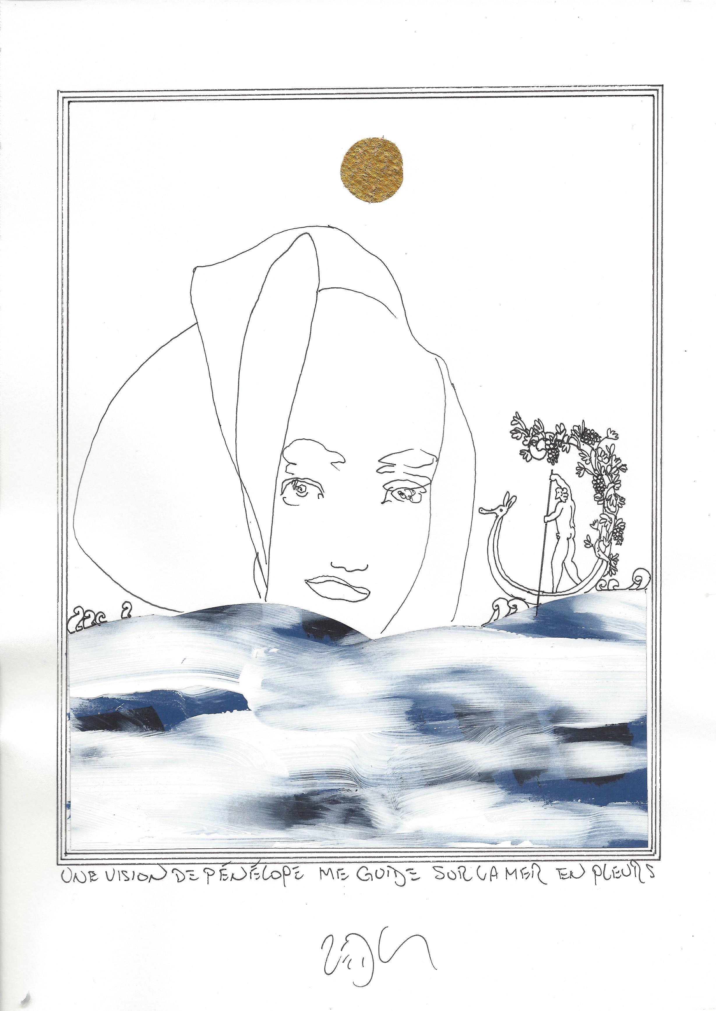 « A vision of Penelope guides me across the wailing sea – Une vision de Pénélope me guide sur la mer en pleurs »