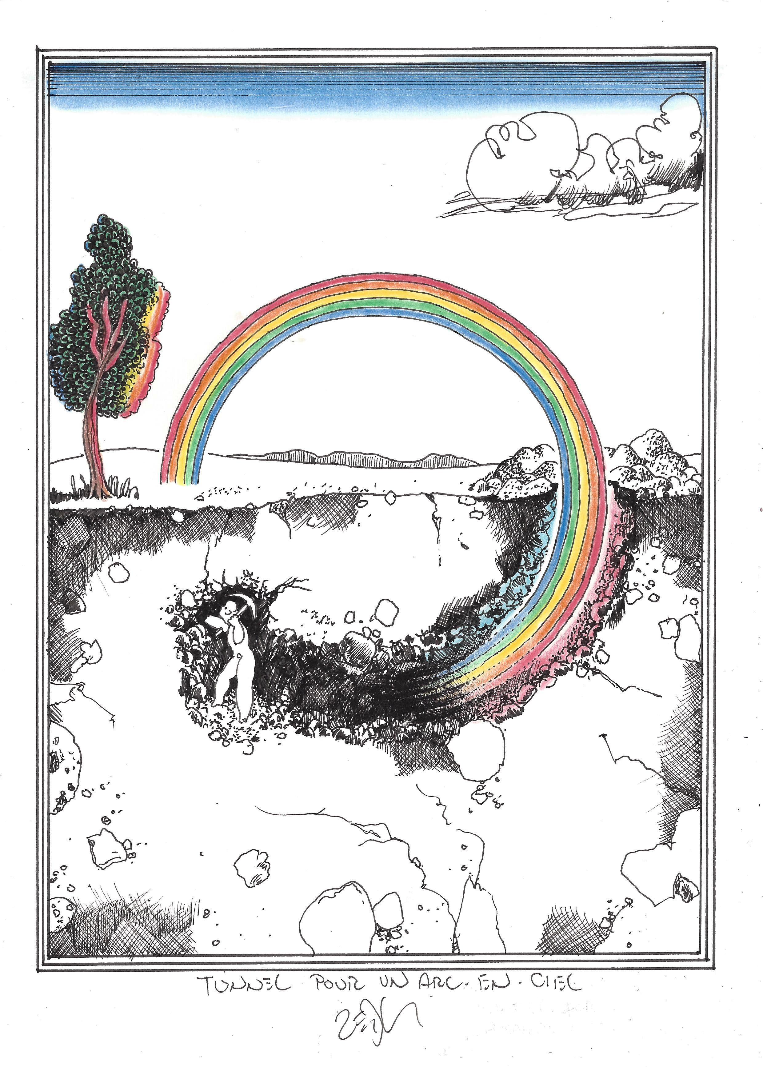 « Tunnel for a rainbow – Tunnel pour un arc-en-ciel »
