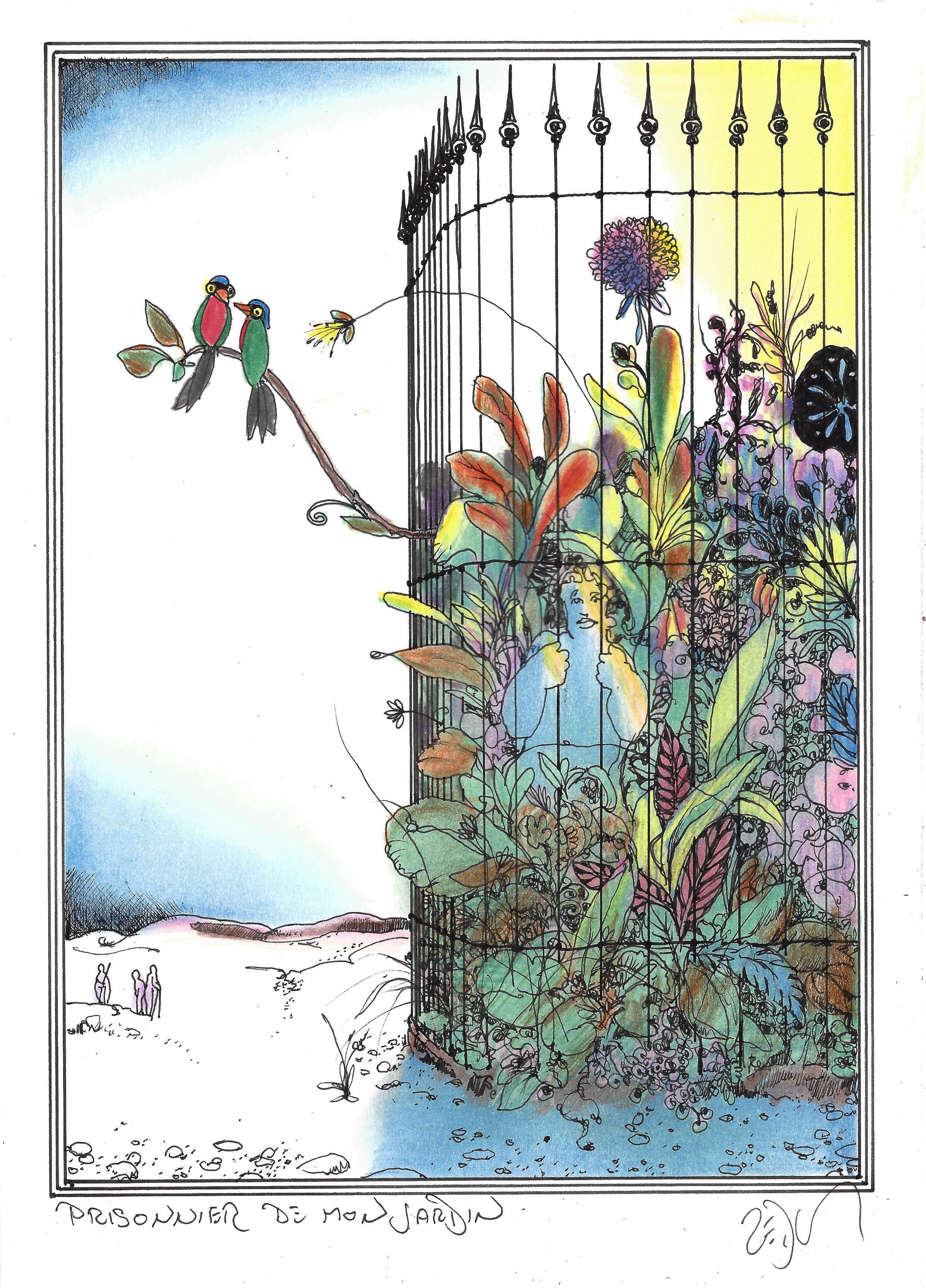 « Trapped in my garden – Prisonnier de mon jardin »