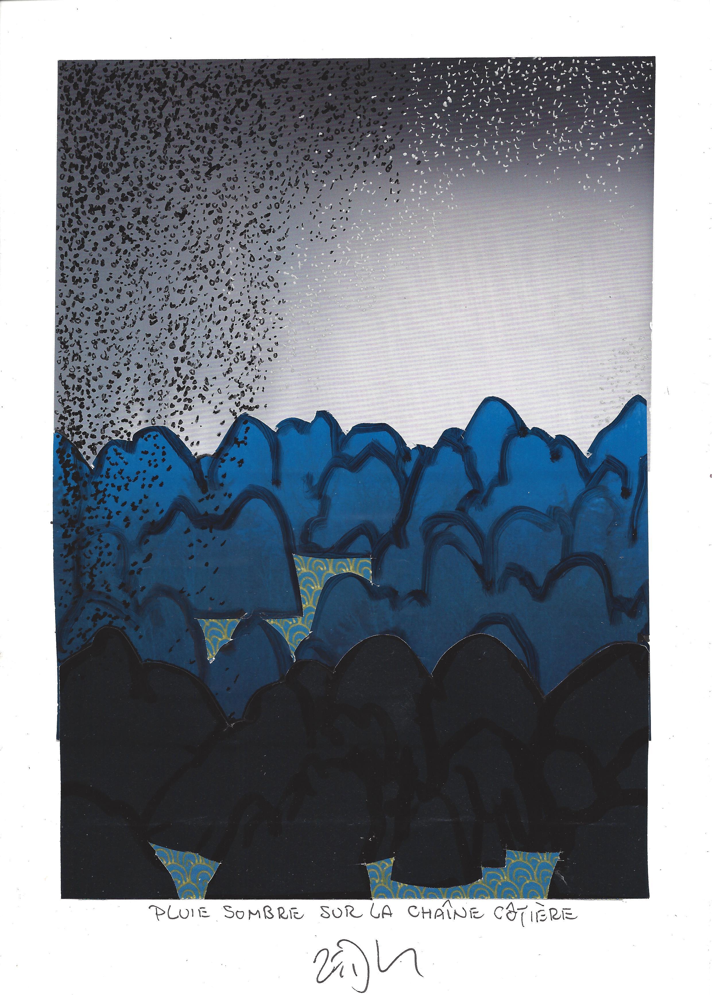« Dark rain over Coast Mountains – Pluie sombre sur la Chaîne Côtière »