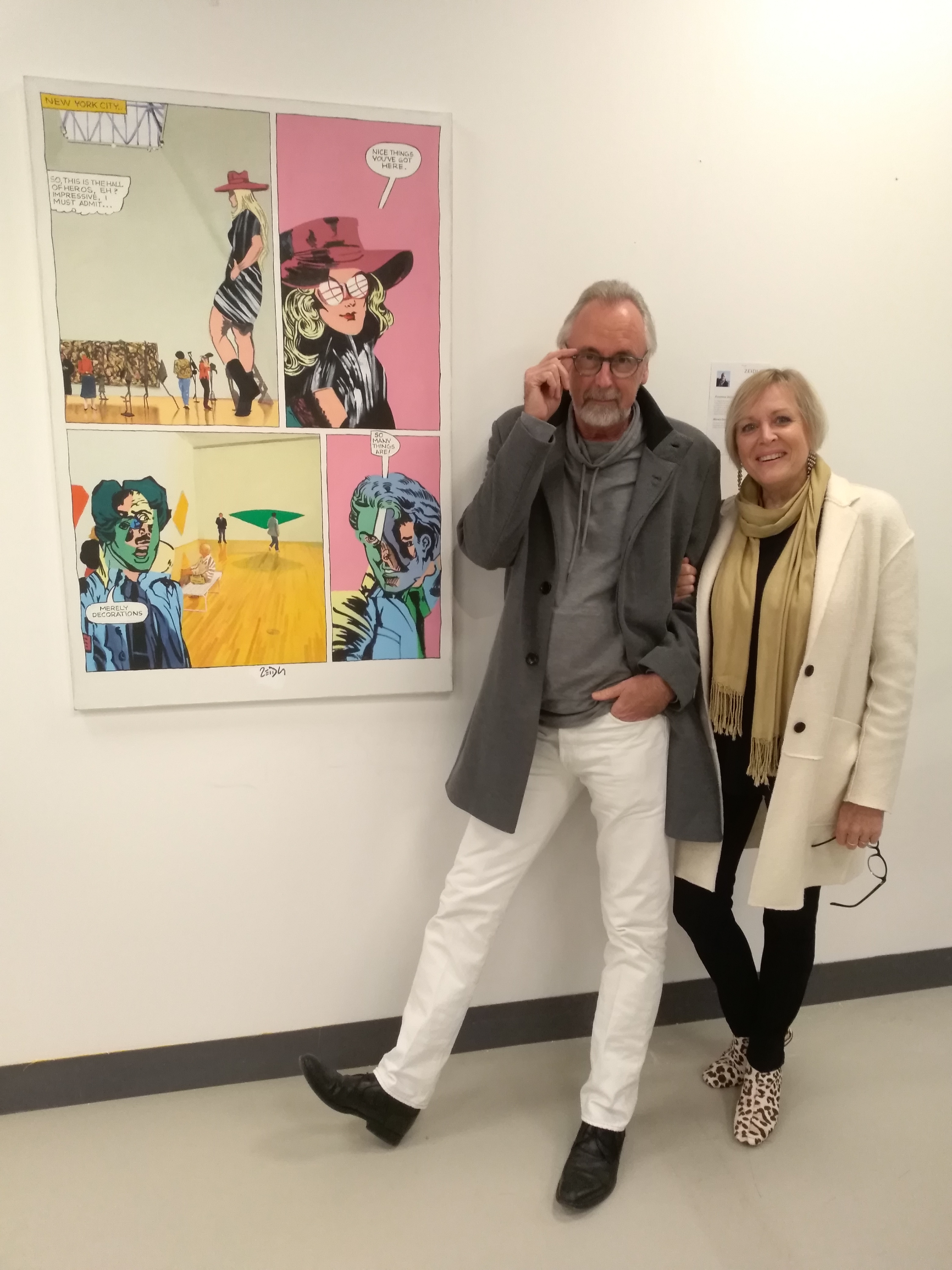 Frank and Nadine at the vernissage